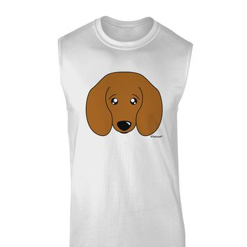 Cute Doxie Dachshund Dog Muscle Shirt  by TooLoud