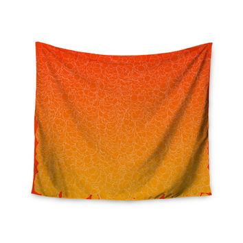 """Frederic Levy-Hadida """"Bubbling Red"""" Wall Tapestry"""