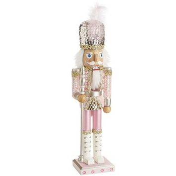 Pink Sequin Nutcracker Soldier