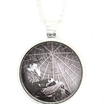 Nikola Tesla Necklace Silver Tone Antique Daguerreotype Portrait Print Pendant NP59 Fashion Jewelry