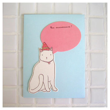 Livework Paper doll greeting card - amelie