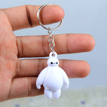 Big Hero 6 Baymax Key Chain 4cm Cute Mini Action Figure toys Keychain Pendant Birthday Gift Keyring for friends