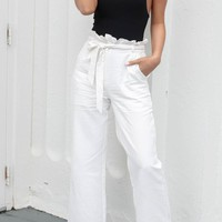 Getting Noticed White Linen Pants