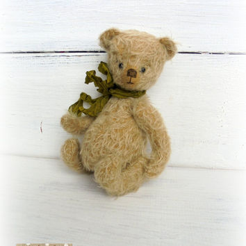 Author teddy bear 6.3inches Artist teddy bear OOAK teddy bear vintage Gift for mother's day Stuffed bear animal Gift Free shipping worldwide