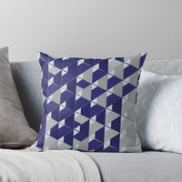 '3D Lovely GEO III' Throw Pillow by Creative BD