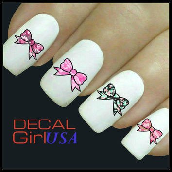 Nail Art Decals 32 Camo Bows Nail Decals