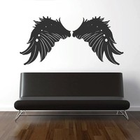 ik1708 Wall Decal Sticker angel wing feathers baby room Bedroom