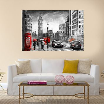 street view of London Canvas Wall Art