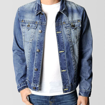 MENS DANNY SLIM FIT TRUCKER DENIM JACKET - Outerwear | True Religion Brand Jeans