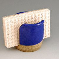 Ceramic Blue Sponge Holder