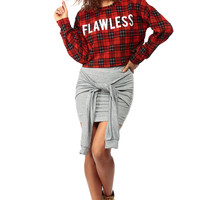 Flawless in Plaid Over Sized Crop Top