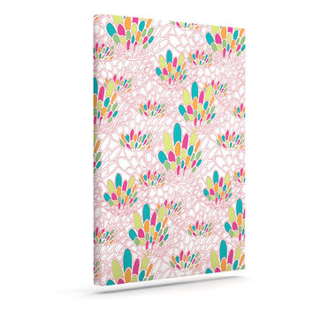 "Miranda Mol ""Blown Away"" Pink Multicolor Canvas Art"