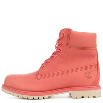 The Women's 6 Premium Boot in Dark Pink Full Grain