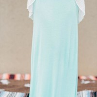 Great Lengths Maxi Skirt in Mint