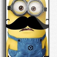 Personalized Despicable Me Mustache Minion Custom for Phone 4 iphone 4s Print iphone hard case for iphone 4, iphone 4S-plastic Iphone cover