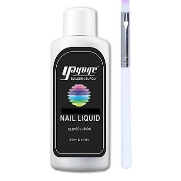GenZ Poly Nail Gel Slip Solution W/Poly Nail Gel Brush 2-4 day Delivery
