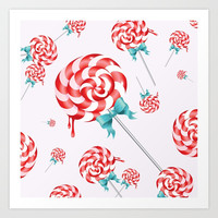 Lollies Art Print by allisone