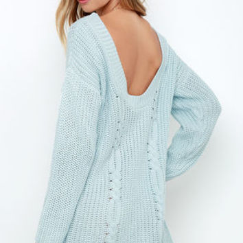 Somedays Lovin' Ralphie Light Blue Sweater Dress