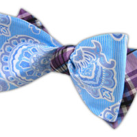 Italian/Wild - Mystic/Wisteria (Reversible Bow Ties) - Wear Your Good Tie. Every Day