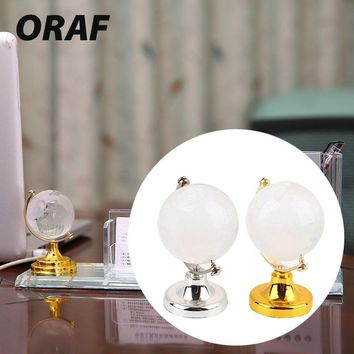 Table Ornaments Christmas Gift Paperweight Stand Beautiful Gold Silver Round Earth Globe Crafts Art Collection 6.5*4.5*4.5cm