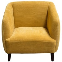 DeLuca Dijon Yellow Fabric Chair
