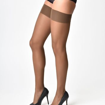 What Katie Did Vintage Style Coffee Tan Glamour Seamed Stockings