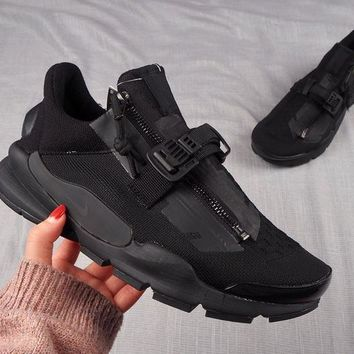 DCCK2 N320 Acronym X Nike Sock Dart Zipper Socks Shoes All Black