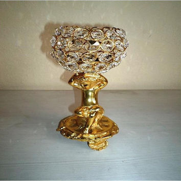 Vintage Antique Aluminium Metal Candle Crystal Table Lamp,Festival Decoration Crystal Lamp or Garden Party Crystal Lamp