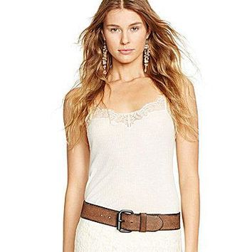 Polo Ralph Lauren Lace-Trimmed Camisole - Polo Black