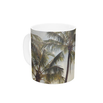 "Catherine McDonald ""Boho Palms"" Coastal Trees Ceramic Coffee Mug"