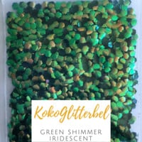 Mermaid Scales- Green Shimmer Iridescent