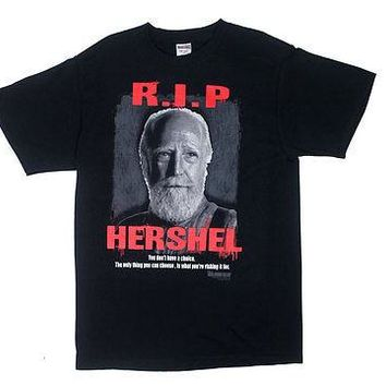 WALKING DEAD RIP HERSEL BLACK Adult Shirt S-M