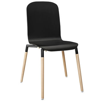 Stack Wood Dining Chair Black
