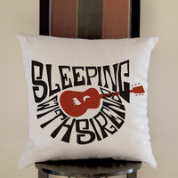 Sleeping With Sirens Logo Pillow, Pillow Case, Pillow Cover, 16 x 16 Inch One Side, 16 x 16 Inch Two Side, 18 x 18 Inch One Side, 18 x 18 Inch Two Side, 20 x 20 Inch One Side, 20 x 20 Inch Two Side