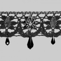 Arachnathea - lace choker by Alchemy Gothic with spider detail