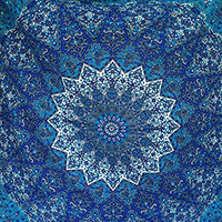 Exclusive Star Mandala Tapestry , Indian Mandala Wall Art, Hippie Wall Hanging, Bohemian Bedspread, Dorm Decor