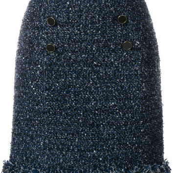 Karl Lagerfeld Fringed Bouclé Skirt - Farfetch