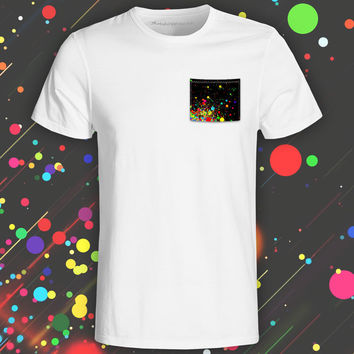 Supersonic Paint White Pocket Tee