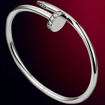 Cartier star with a nail couple bracelet diamond bracelet Silver