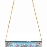 Ocean  Drive  Embroidered  and  Embellished  Leather  Bag