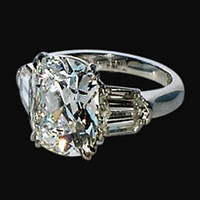 1.65 carat Three stone diamond anniversary ring white gold jewelry