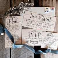 Rustic Wedding Invitations, Wedding Invitation Suite, Wedding Invitations, Wedding Invitation