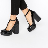 ASOS OKI Chunky T Bar Shoes at asos.com