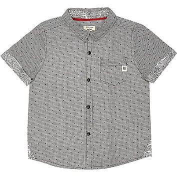River Island Mini boys geometric print shirt