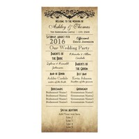 Vintage Rustic Typography Wedding Programs