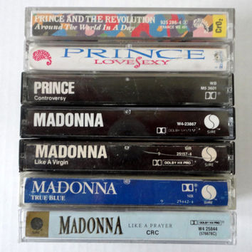 MADONNA & PRINCE cassettes tape LoT vintage music collection 80s