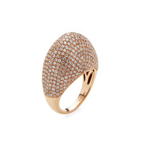 Shay Women's Pave Diamond Dome Ring - White - Size 7