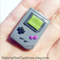 Gameboy Ring - Gamer Geek Gift - Classic Gameboy Jewelry