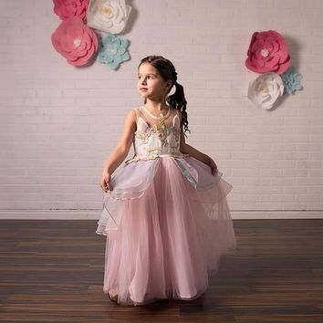 Unicorn Pink Tulle Gown Dress