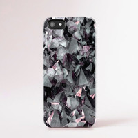 Crystal iPhone 6 Case Gem iPhone 5 Case Jewel iPhone 4 Case Grey iPhone5 Case Gray iPhone 5 case Pink iPhone Cover Crystal Print